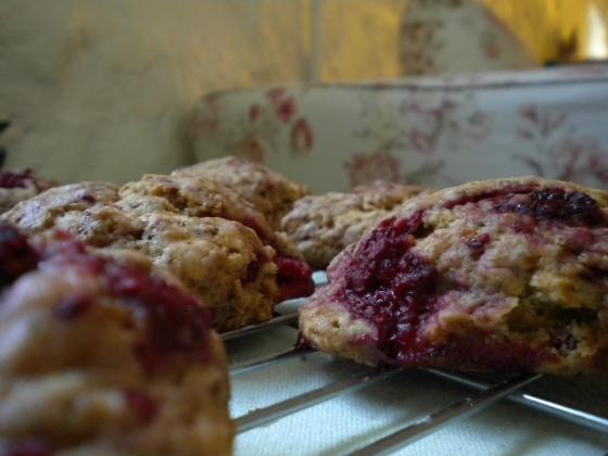 raspberr scones