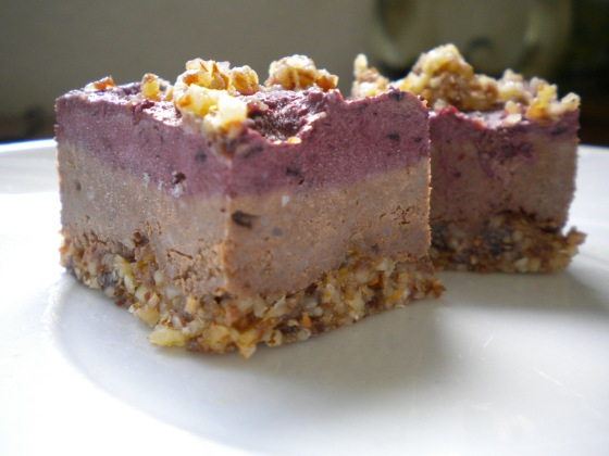 raw chocolate berry cheezecake